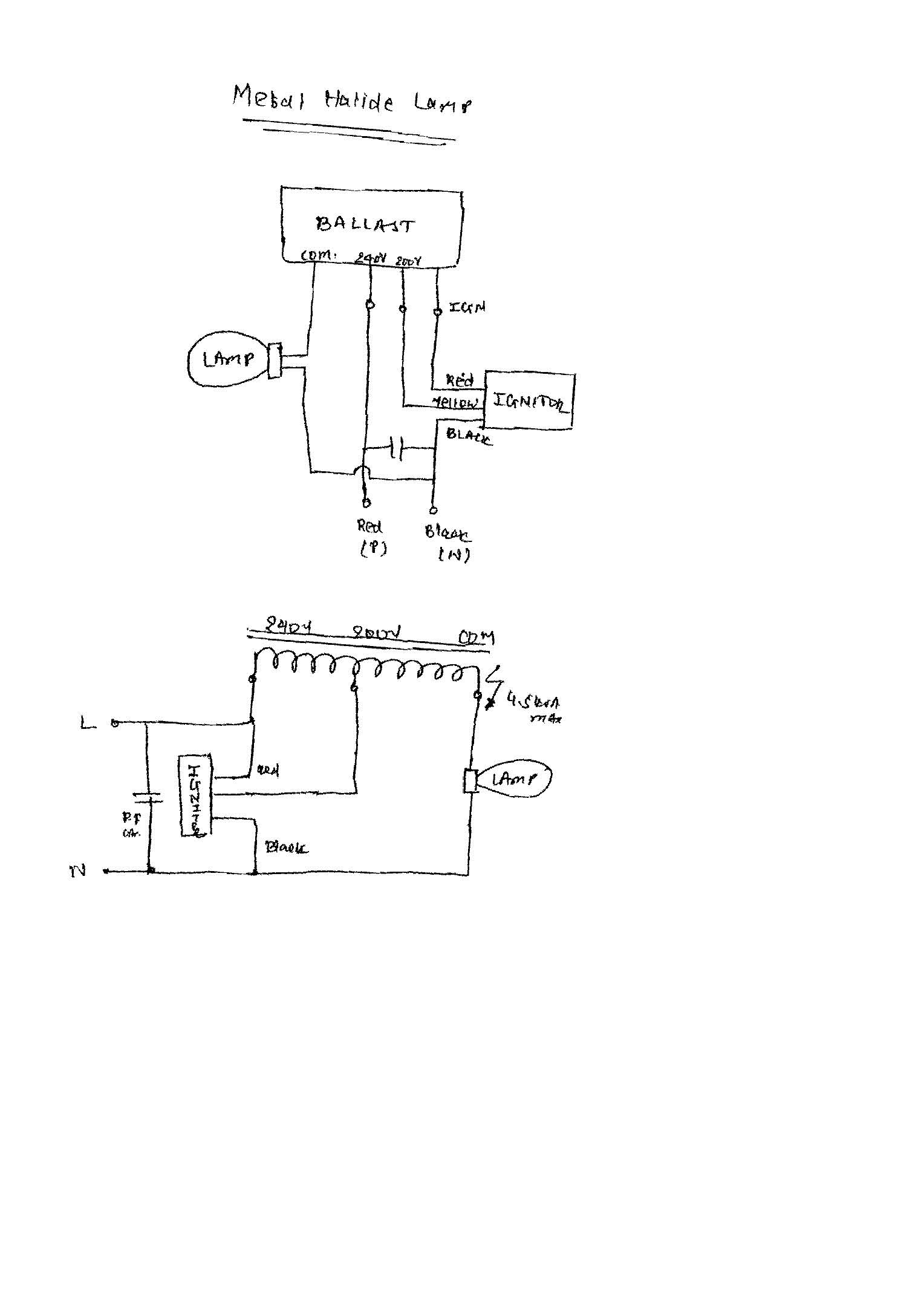 March 2011 Electrical Notes Articles Page 2 240v Stove Wiring Diagram Free Download Schematic Ballast Ignitor Capacitor Lamp Connection