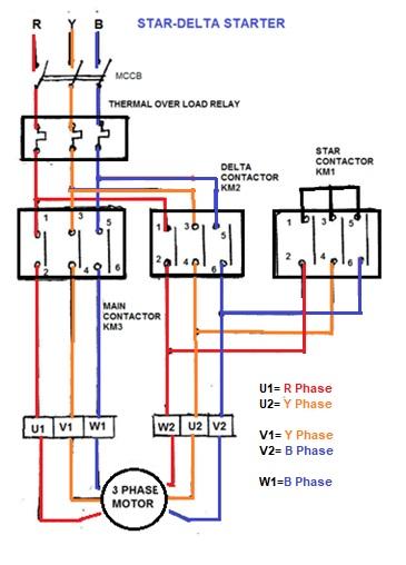 Star Delta Motor Starter Ladder Diagram